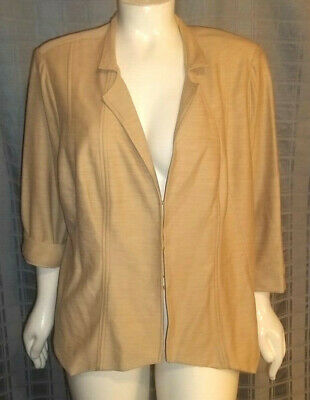 149d91b2b1a6 New Size 3X Dress Barn soft tan jacket 3/4 sleeve W/lining Chest