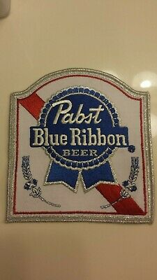 Vintage Pabst Blue Ribbon Large Beer Back Patch  - Original from 1982 - FREE/SH
