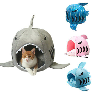 Pet Bed House Large Dog Cushion Shark Shaped Puppy Cat Pad Tent Kennel