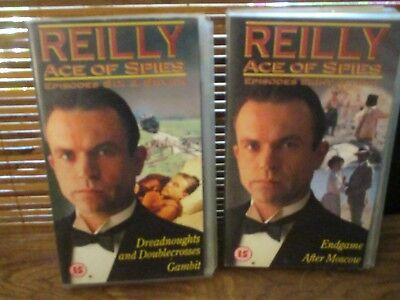 Reilly Ace of Spies  VHS Video Tapes Set of Two Videos