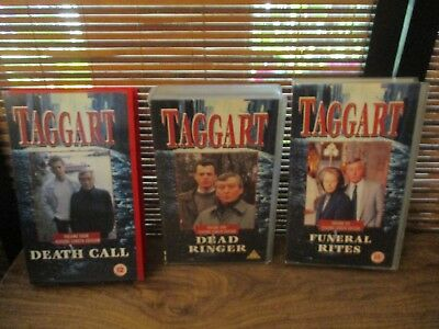 Taggart VHS Video Tapes Set of Three Videos - Death Call / Dead Ringer / Rites
