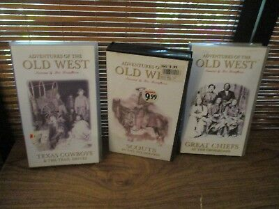 Adventures of the Old West  VHS Video Tapes Set of Three Videos