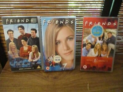 Friends VHS Video Tapes Set of Three Videos
