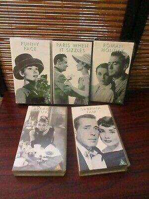 Audrey Hepburn VHS Videos Set of Five Tapes - Funny Face, Tiffanys, Sabrina Fair