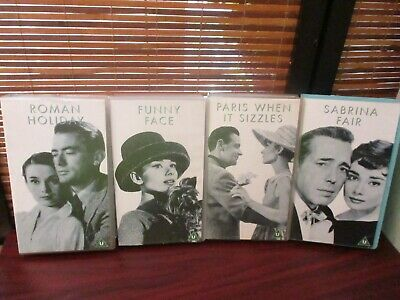 Audrey Hepburn VHS Videos Set of Four Tapes - Funny Face, Roman Holiday ,Sabrina