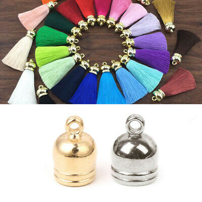 50 DIY Tassel Leather End Cap Jewellery Finding Making Craft Earring Accessories