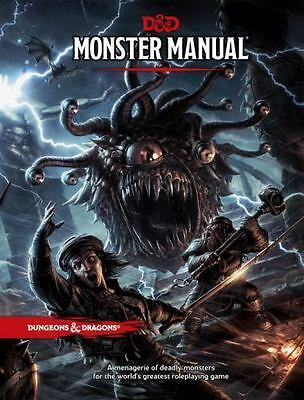Dungeons & Dragons D&D 5E 5th Edition Core Rulebook Monster Manual (0786965614)