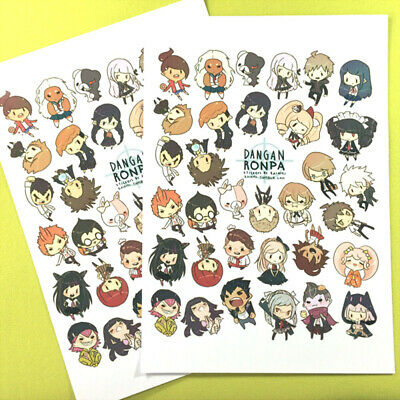 2 Pieces Sticker DIY Washi Accessories Danganronpa Dangan Ronpa All Characters