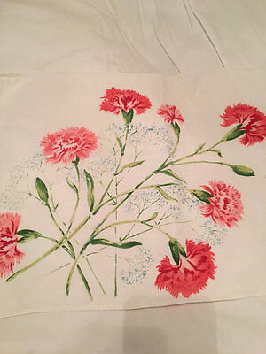 Shabby Chic Cottage Vintage Pink Floral Linen Placemats