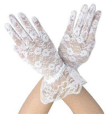 Women Lace Gloves Floral Short Lace Gloves Sun Protection Lace Gloves