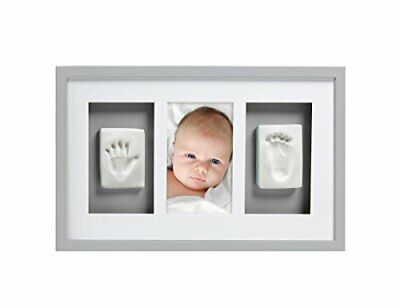 Pearhead Babyprints Handprint and Footprint Deluxe Wall Keepsake Framewith Clay