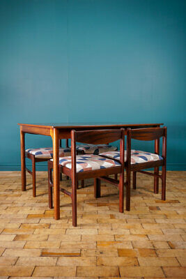 Mid Century Mcintosh Rosewood Table & Chairs