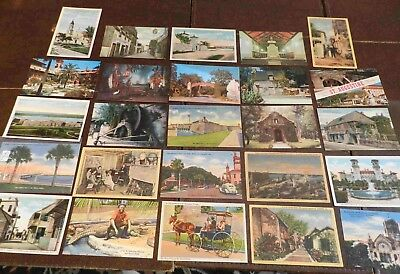 Lot of  25 Postcards (Lot 282) Florida St Augustine Older 24 unused.