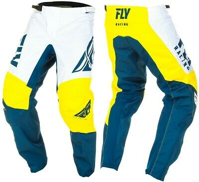 2019 Fly Racing F-16 F16 Yellow White Navy Motocross Offroad MX Pants Youth