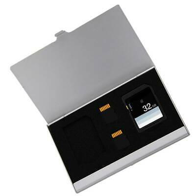 2 SD+ 2TF Micro SD Cards Storage Case Memory Card Holder Aluminum Alloy Card Box