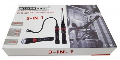 PowerHand Rechargeable 3 In 1 LED Brand New