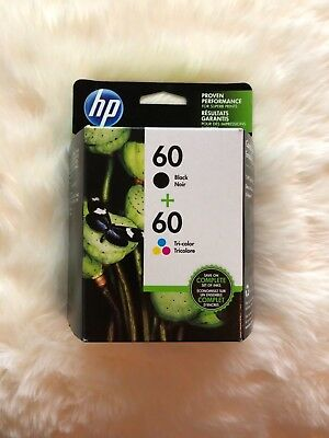 Hp Genuine Combo Pack 60 Black / Tri Color Ink (Retail Box) 10/2019