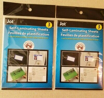 6 Instant Self Laminating Sheets - SIX count - NO TOOLS NEEDED - Jot