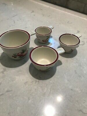 Set of Pfaltzgraff Delicious Nesting Measuring Cups X 4 Pieces