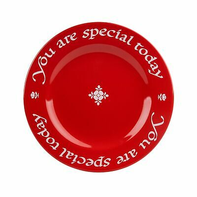 Waechtersbach Plate, You Are Special Today Red Plate Set of 1