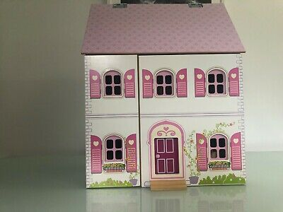 3 Storey Doll House + Wooden Furniture + Wooden Dolls (Collection Only)