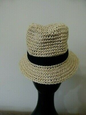 5de95caab NWT BABY GAP Boy's Natural Colorblock Straw Fedora Hat - $16.99 ...
