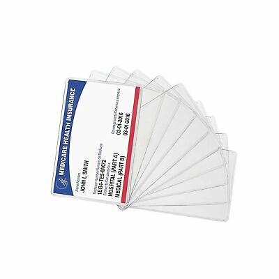 New Medicare Card Holder Protector Sleeve Clear 6 Mil (10)