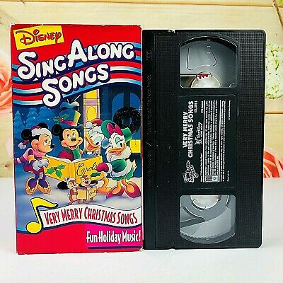Disney Sing Along Songs Very Merry Christmas Songs 1988 Vhs.Disney Sing Along Songs Very Merry Christmas Songs Fun Holiday Music Vhs Tape