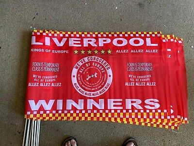 LIVERPOOL WINNERS 2019 FLAG CHAMPIONS OF EUROPE 3 x 2 ft MEDIUM TO LARGE