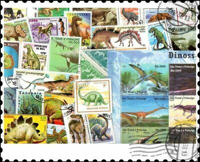 Dinosaurs & Prehistoric Animals : 50 Different Stamps Collection
