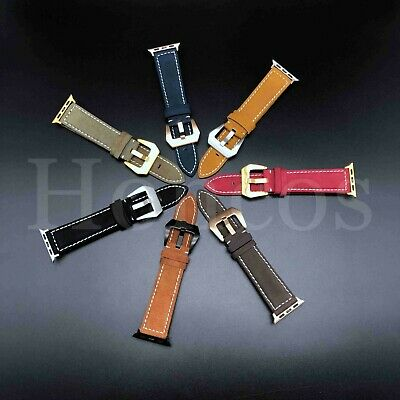 38/40/42/44 MM Apple Watch Band Strap Genuine Leather Iwatch USA  Smart Watch