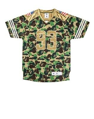 44c8d323c bape x adidas Superbowl Football Jersey Size Large(Green Camo) Accepting  Offers!