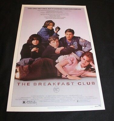 "The Breakfast Club Movie Poster 11"" x 17"" 11x17 Sheedy Hall Ringwald"
