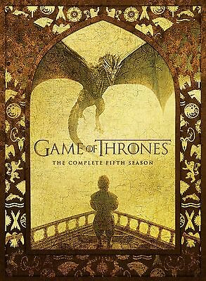 Game of Thrones Complete Fifth Season (DVD-2016, 5 Disc)Region 1. NEW & UNSEALED