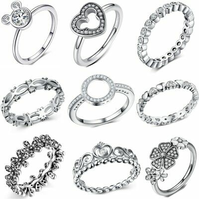 Fashion Flowers Pandora Finger Rings Clear CZ Dazzling Daisy Women Ring New Hot