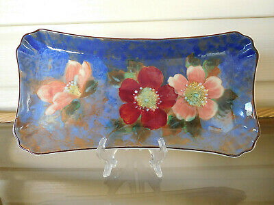 "Royal Doulton ""Wild Rose"" Sandwich Plate Tray D6227 England 1940s"