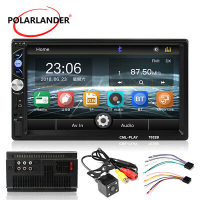 "Car Radio Touch Screen HD 7"" USB/AUX/FM Bluetooth Stereo MP5 Player 2Din +Camera"