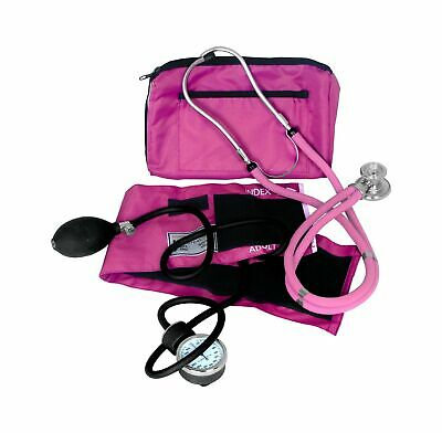 Dixie Ems Blood Pressure and Sprague Stethoscope Kit (PNK) Pink