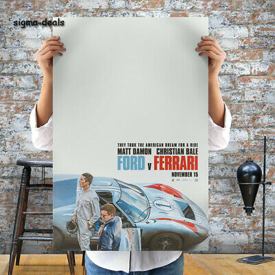 Ford v. Ferrari Poster Movie 1966 Battle Christian Bale Car Film Pr Size 24x36""
