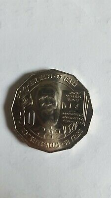2017 Australian 50 cent mabo coin circulated very low mintage 1.4 mil
