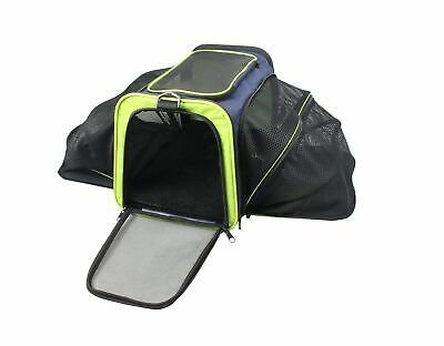 Pet Life B99BL Collapsible Expandable Pet Carrier, One Size, Navy Blue