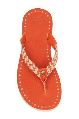 1540cc86d39 UGG 1015542 FOP Women's Navie Orange Braided Thong Flip Flop Sandals ...