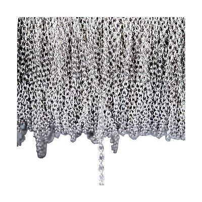 33FT Stainless Steel Cable Chain Link in Bulk for Necklace Jewelry Accessorie...
