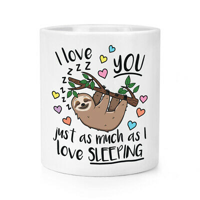 I Love You Just As Much Couchage Maquillage Brosse Crayon Pot Sloth Animal