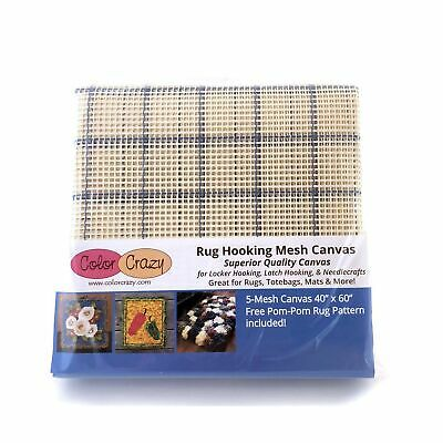 "Rug Hooking Mesh Canvas - 5 Mesh (40"" x 60"") with Free Pattern"