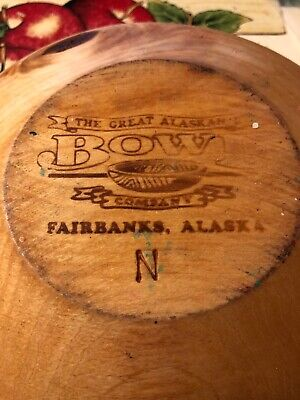 The Great Alaskan Bowl Company Wooden Bowl Vintage Great Condition
