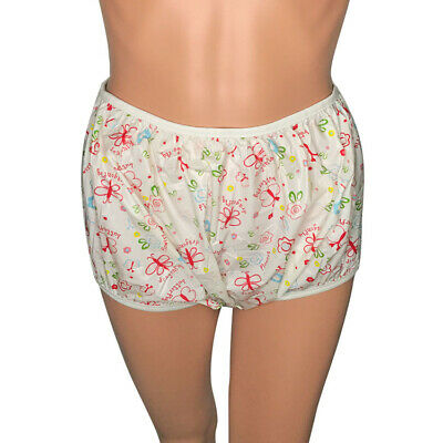 2 Adult Diaper covers Incontinence Pull on Plastic PVC Pants Butterflys abdl