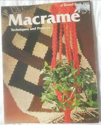 Vintage Retro Sunset Book 1970S Macrame Techniques And Projects