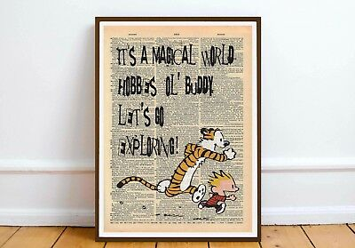 Calvin and Hobbes quote art print wall art home  gift  motivation inspiration 1a