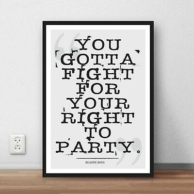 Beastie Boys quote Poster print wall art home  gift  motivation inspiration